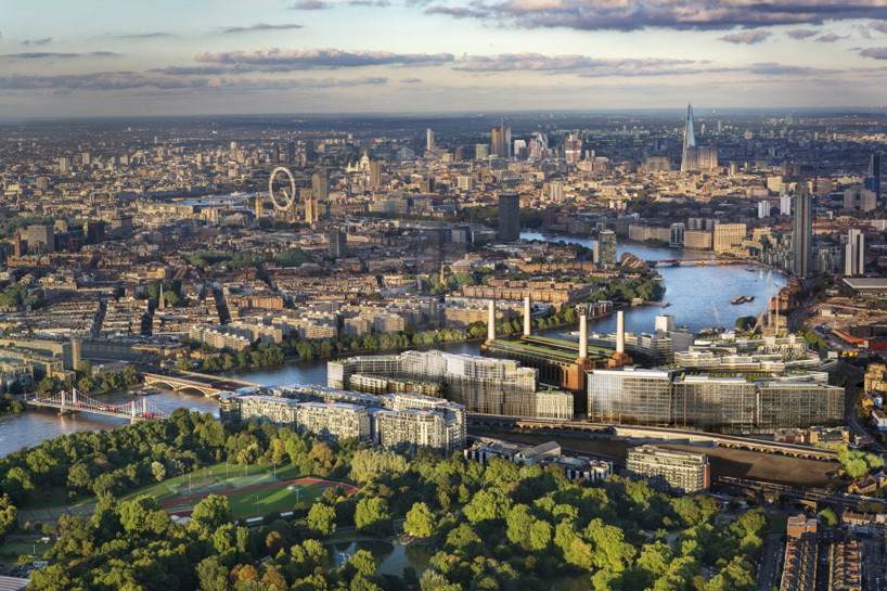 Design Contest Announced for New Thames Bridge at Nine Elms, The area of Nine Elms in London. Image Courtesy of Battersea Power Station Development Company