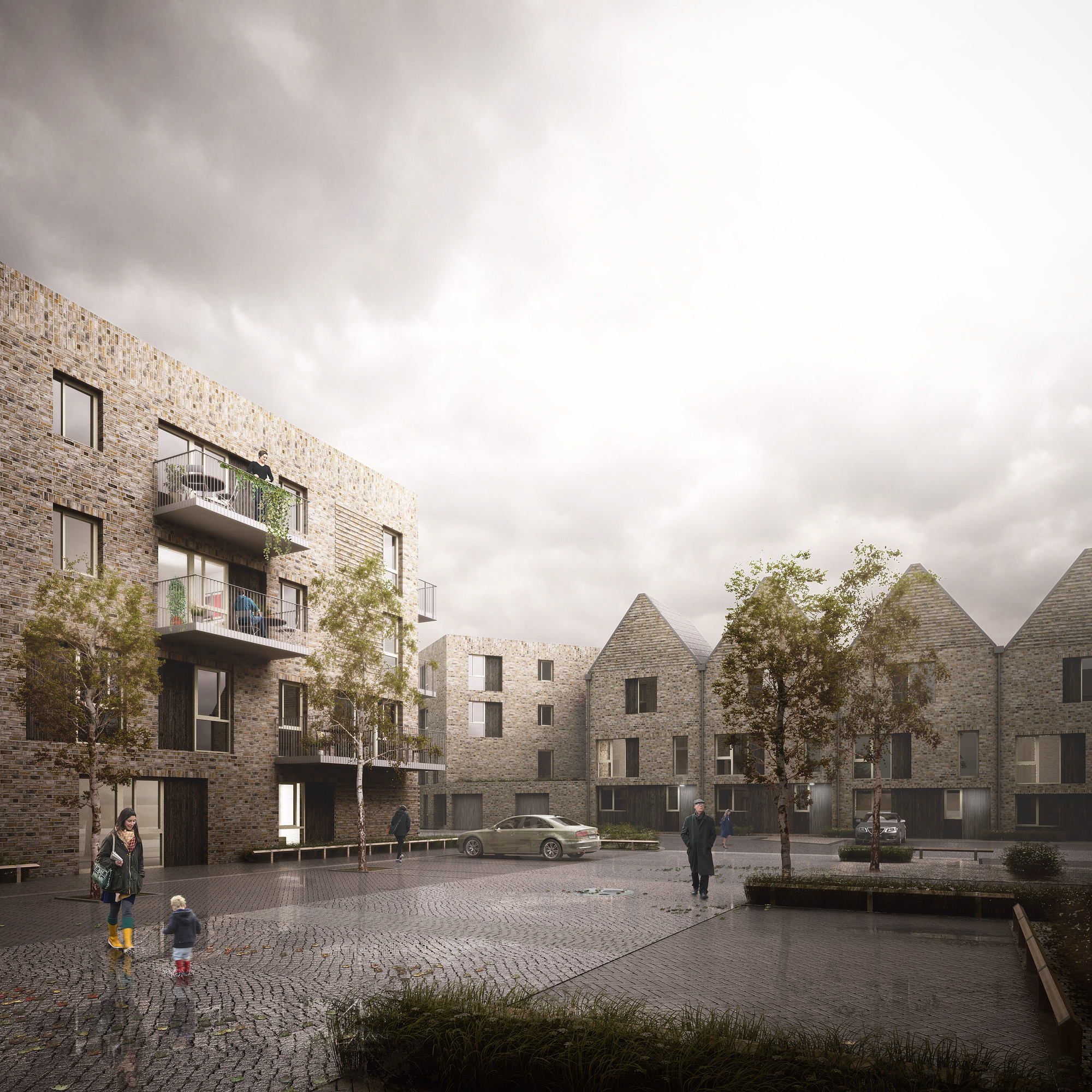 Hawkins\Brown Designs Housing Scheme in Rotherhithe, © Forbes Massie