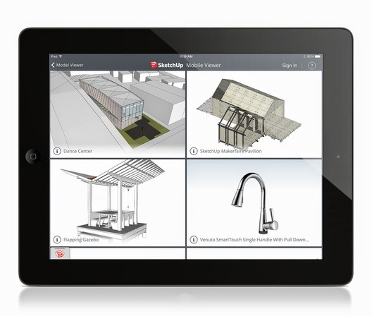 SketchUp Mobile Viewer. Image Courtesy of SketchUp