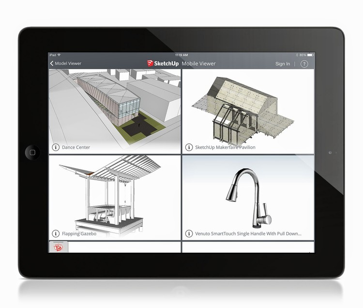Sketchup Mobile Viewer Image Courtesy Of