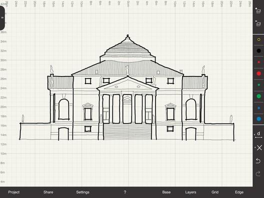 Arrette Scale: Palladio's Villa Rotunda. Image Courtesy of Arrette Scale