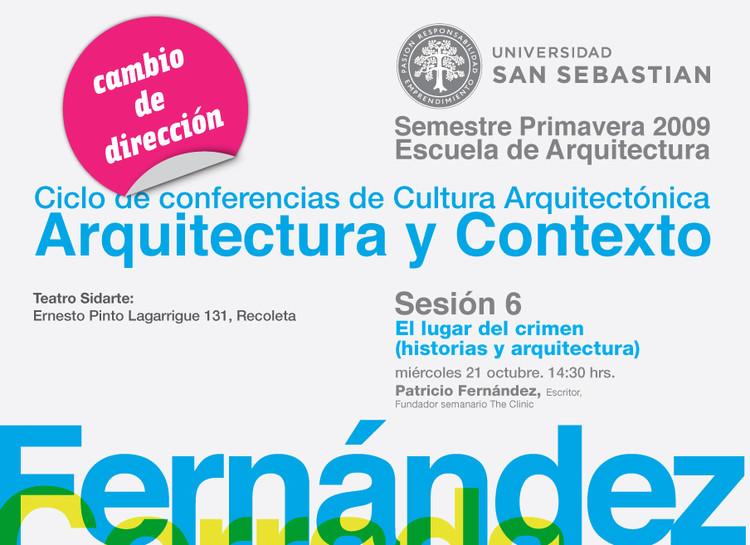 Ciclo de Conferencias de Cultura Arquitectónica – Arquitectura y contexto: Sesión 5
