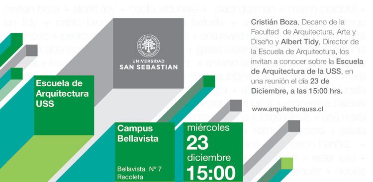 Invitación a conocer la Escuela de Arquitectura de la Universidad San Sebastián