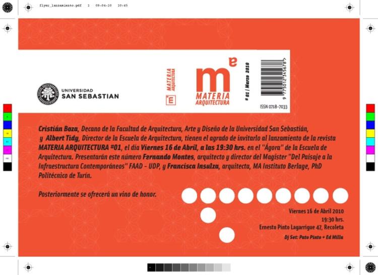 Lanzamiento Revista Materia
