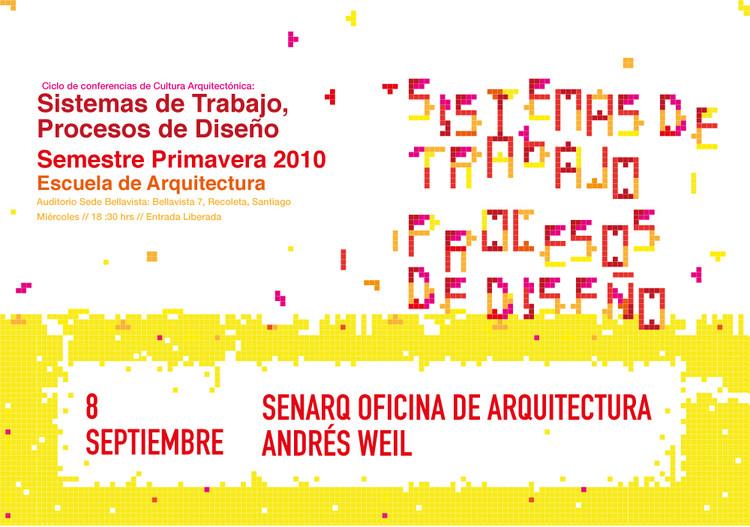 """Ciclo de conferencias de Cultura Arquitectónica: """"Sistemas de Trabajo, Procesos de Diseño""""/ Andrés Weil"""