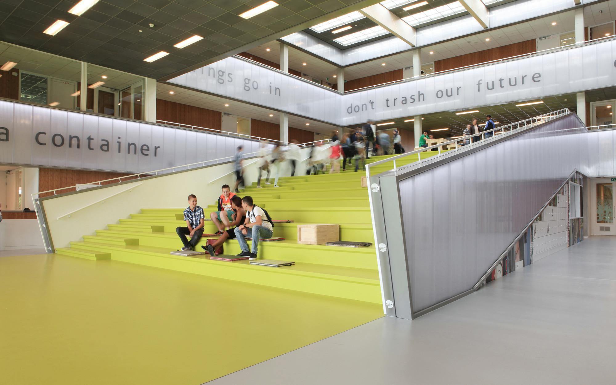 Lyceum Schravenlant / LIAG Architects, © Moni van Bruggen