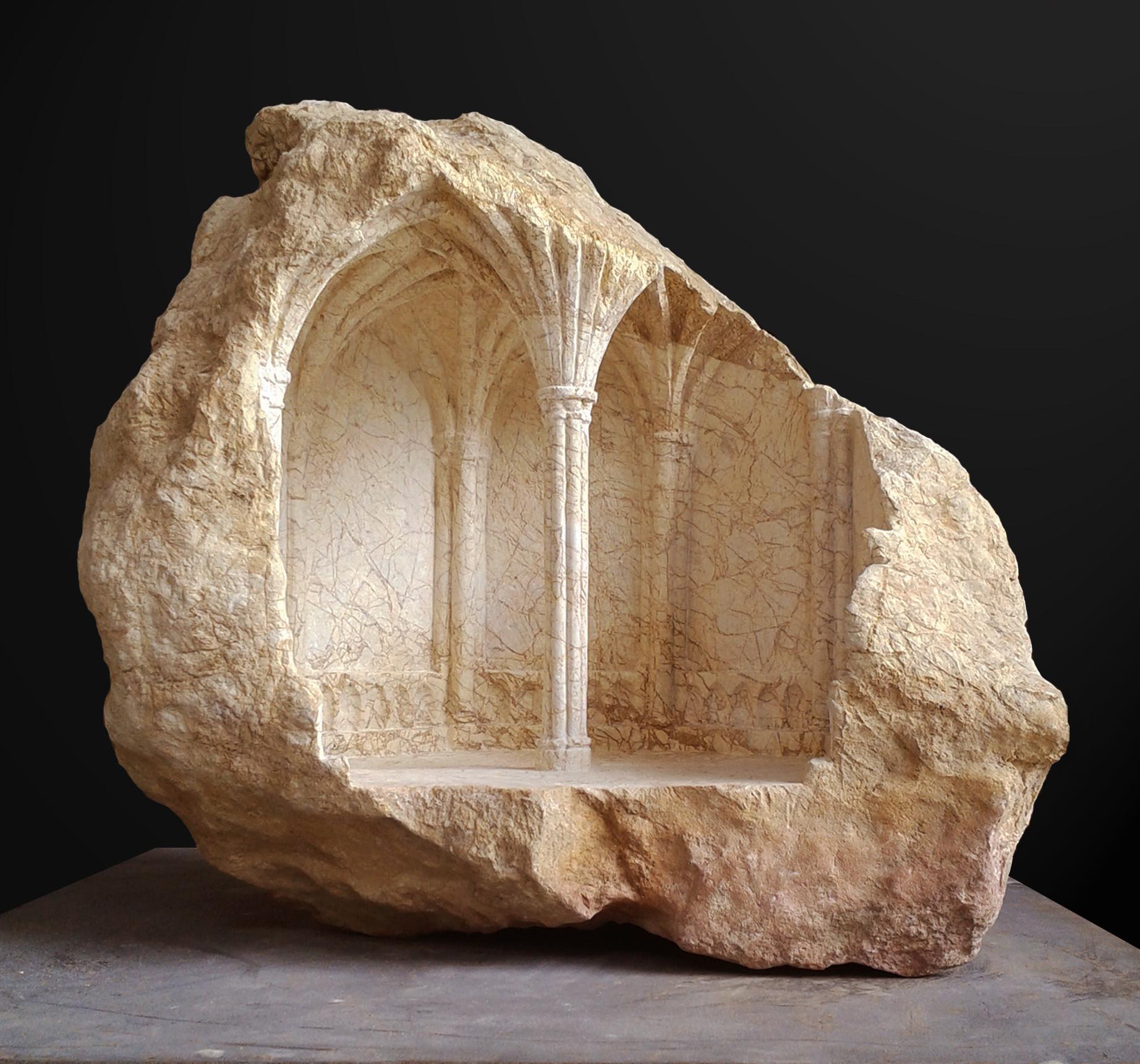 Arte y Arquitectura: Espacios miniaturas tallados en piedra y mármol