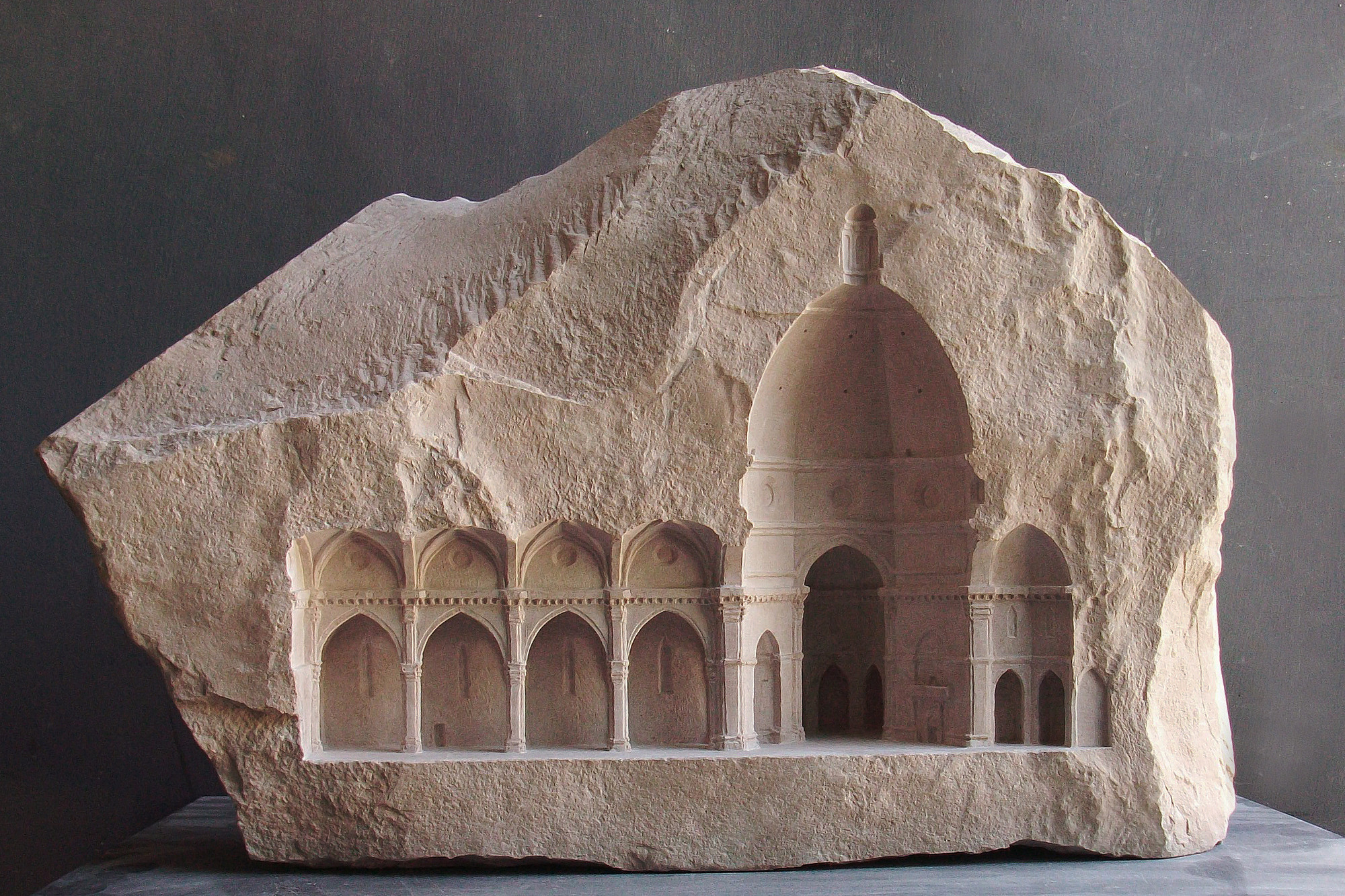 Miniature spaces carved from stone archdaily