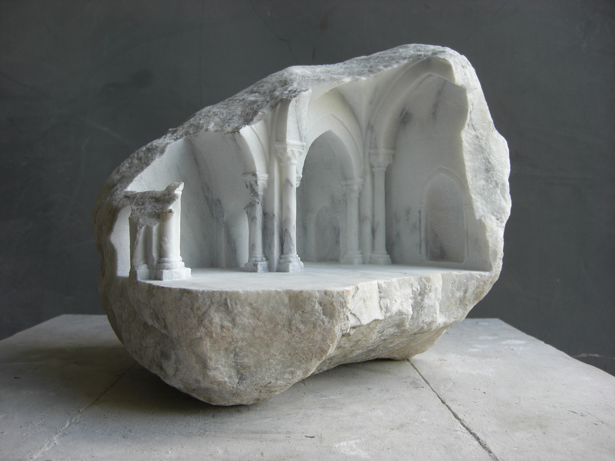 Gallery Of Miniature Spaces Carved From Stone 2