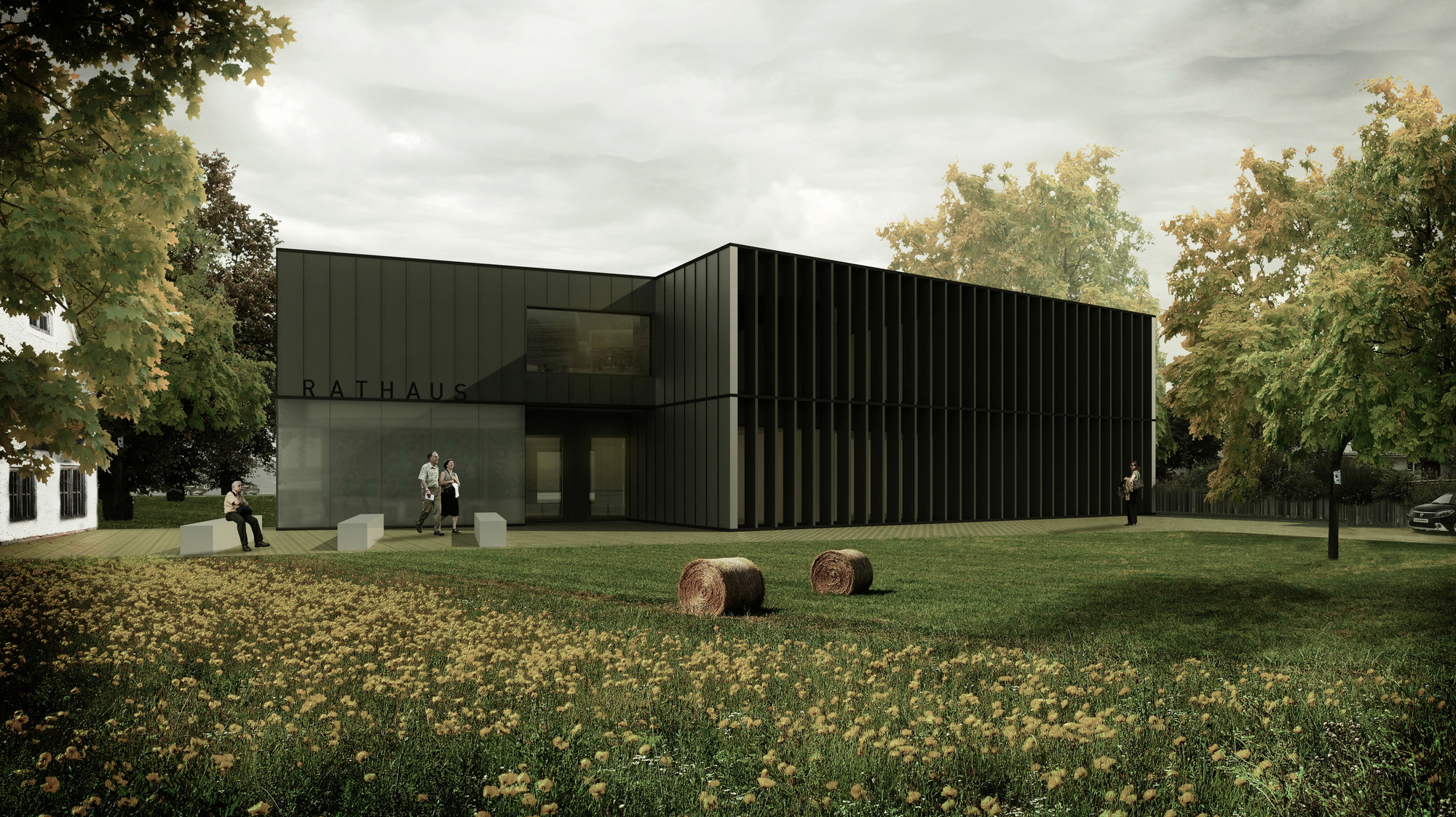 Primer Lugar en nuevo ayuntamiento en Denklingen / Alemania, Courtesy of STUDIO SWES architects