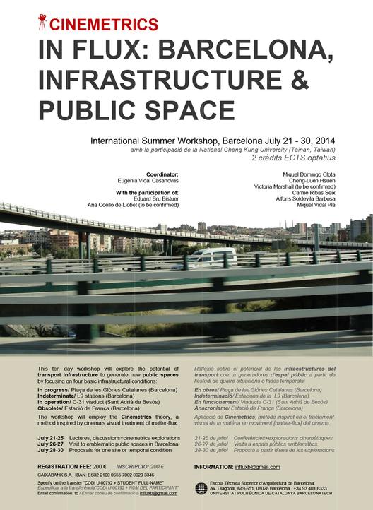 In flux: Barcelona, infraestructure & public space / Barcelona / ¡Sorteamos una beca!