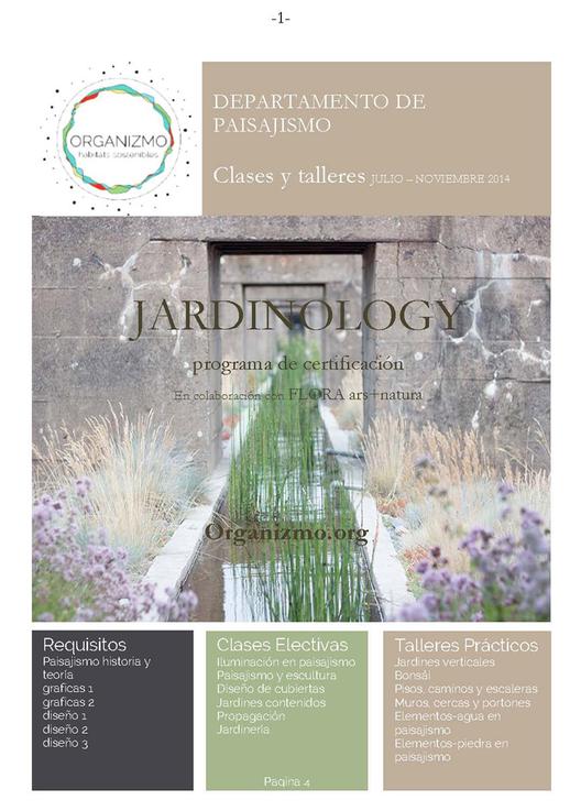 Jardinology: programa de certificación / Colombia / ¡Sorteamos tres becas!, Courtesy of Organizmo