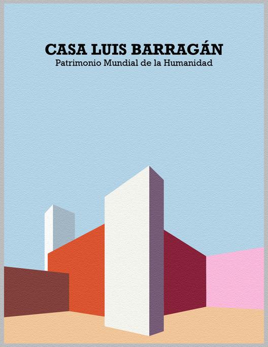 Ilustraciones conmemorativas de Casa-Estudio Luis Barragán por sus 10 años como Patrimonio de la Humanidad, © Juan Carlos García Mendoza