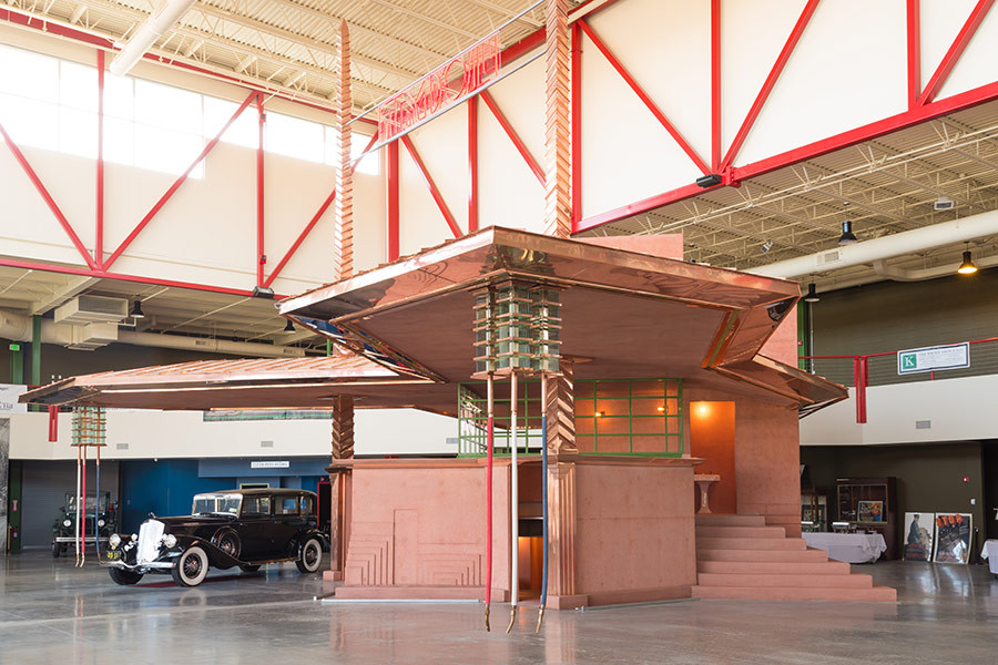 Rare Frank Lloyd Wright Gas Station Brought to Life, Courtesy of Pierce-Arrow Museum