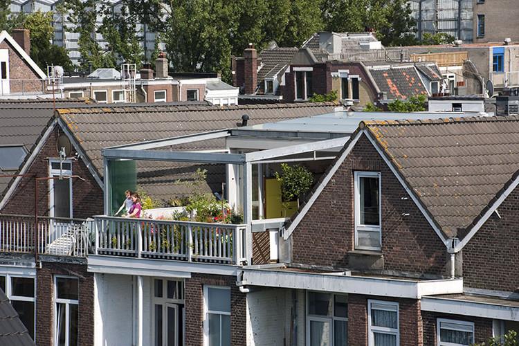 """Arquitetos holandeses transformam sua casa em um """"paraíso urbano"""", © Thomas Mayer"""