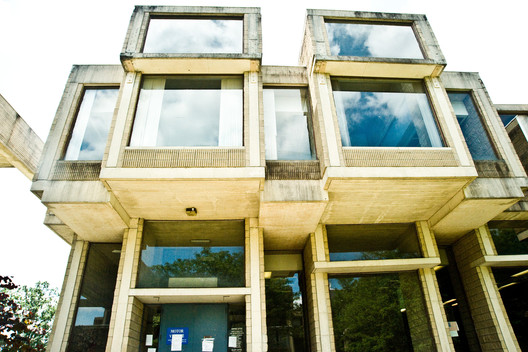 The Brutalist-style Orange County Government Center in Goshen, N.Y., closed since 2011, and designed by Paul Rudolph, may get a shot at preservation. Image © Randy Harris