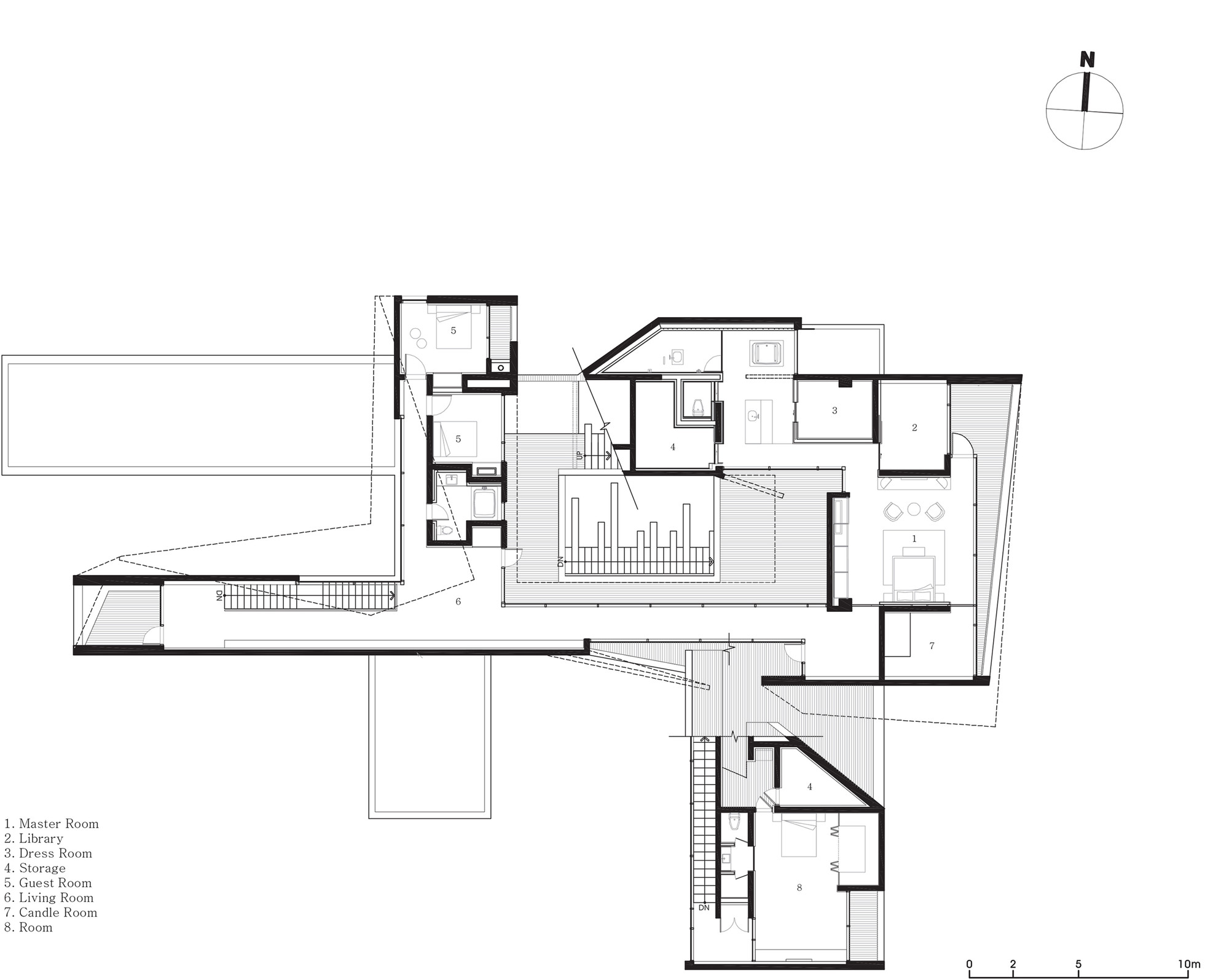 guest house floor plan gallery of guest house rivendell idmm architects 19 17996