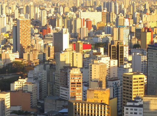 Vista aérea de São Paulo. Image © Paul Clemence