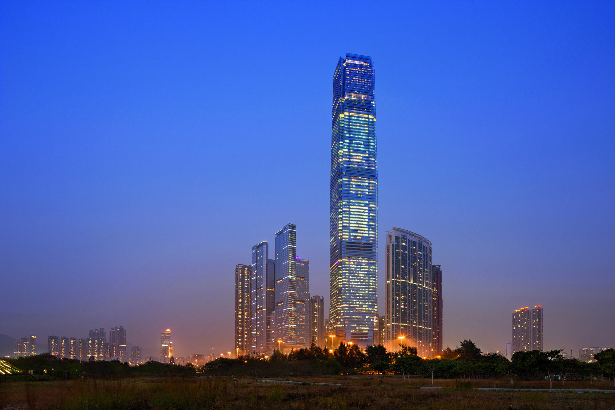 Hong Kong's International Commerce Centre Wins Inaugural CTBUH Performance Award, © KPF