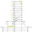 Corte dos sistemas. Image Courtesy of Grifo Arquitetura