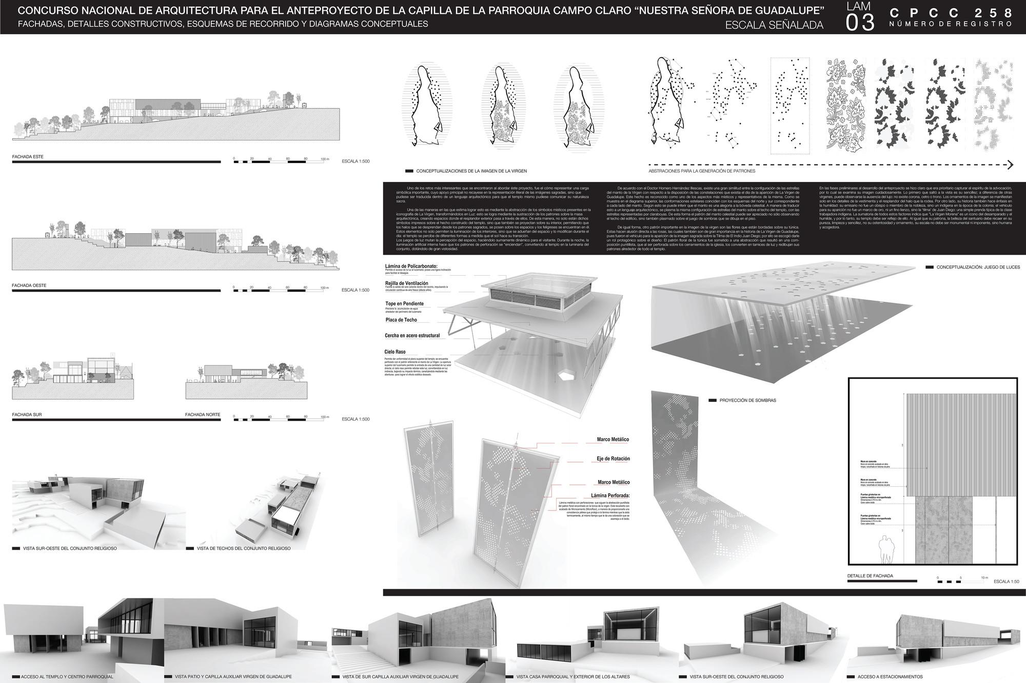 Galer a de primer lugar en anteproyecto de capilla de la for Conceptualizacion de la arquitectura