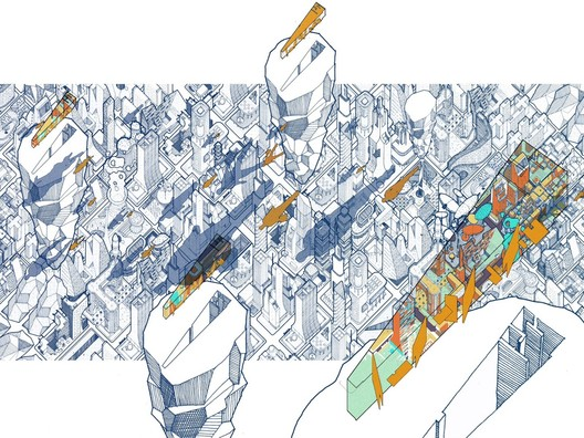 Jury Winner_Emerging talents_AE Superlab_Infinicities. Image Courtesy of The Morpholio Project