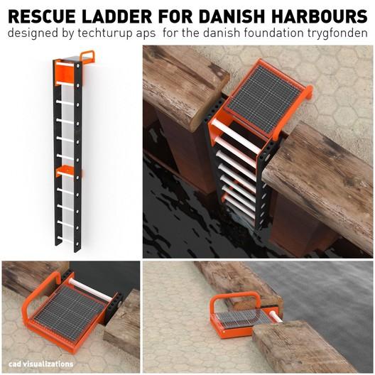 Jury Winner_Emerging talents_Stefan_Kaplan_Rescue ladder. Image Courtesy of The Morpholio Project