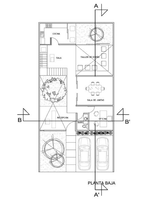 Oficinas matatena desnivel arquitectos plataforma for Oficinas modernas planos