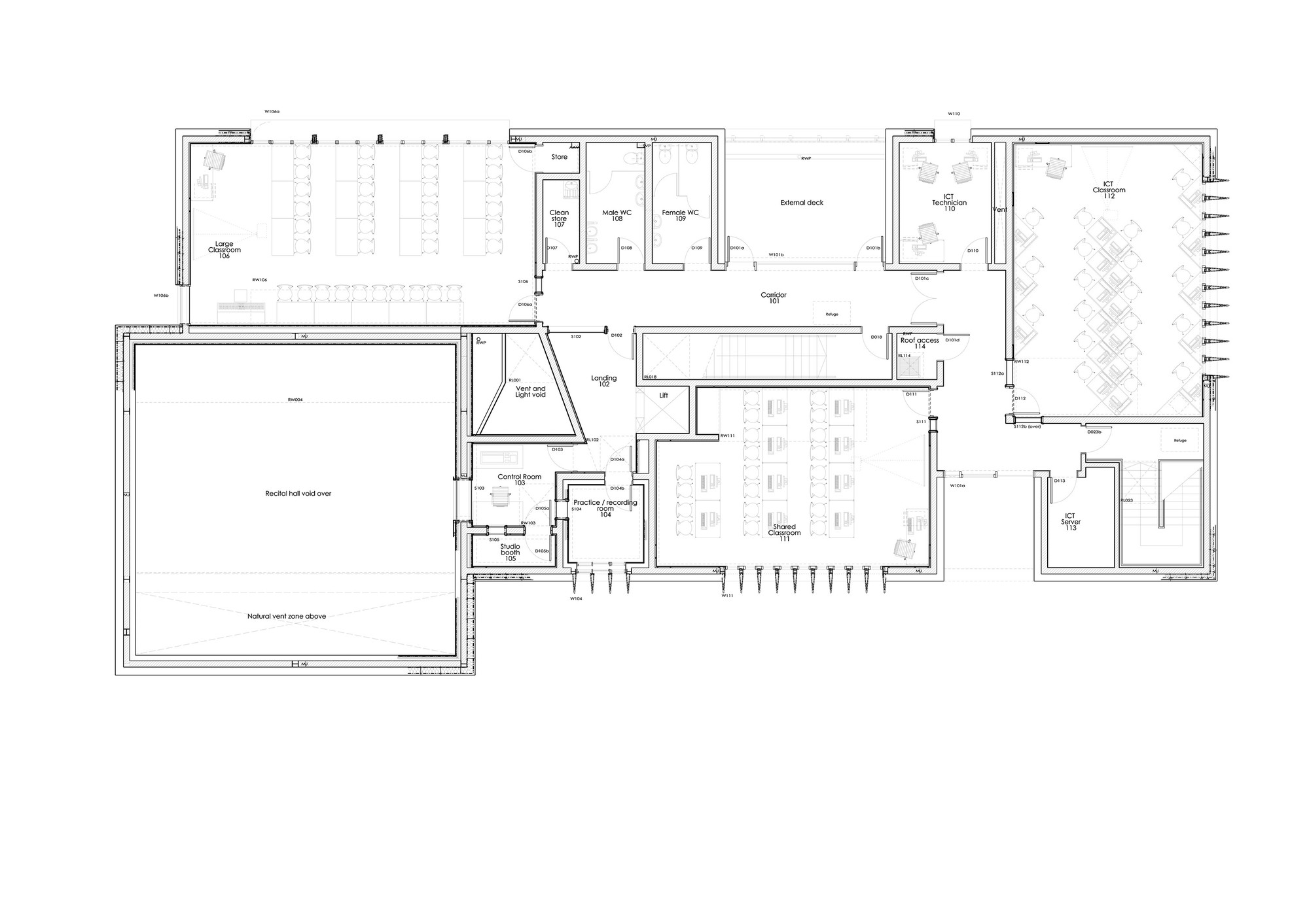 Gallery of the pangbourne communications centre mitchell for Continental homes of texas floor plans