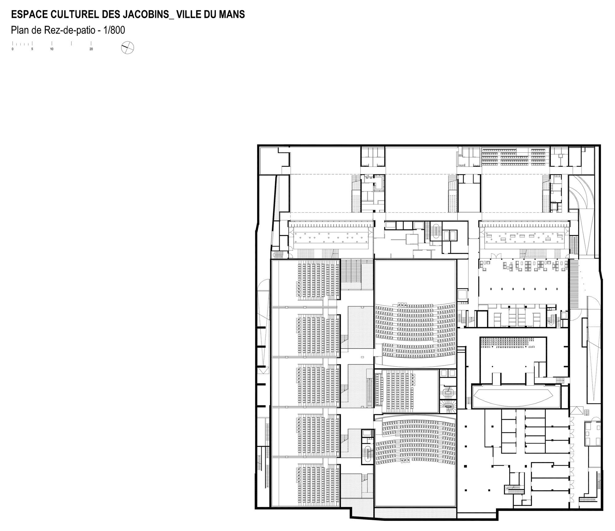 53ce1b78c07a80492d00038d Les Quinconces Cultural Center Babin Renaud Floor Plan on Villa Savoye Floor Plans
