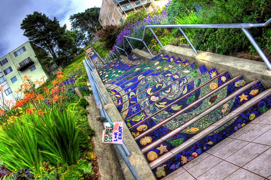 As 17 intervenções urbanas mais belas do mundo realizadas em escadarias, San Francisco