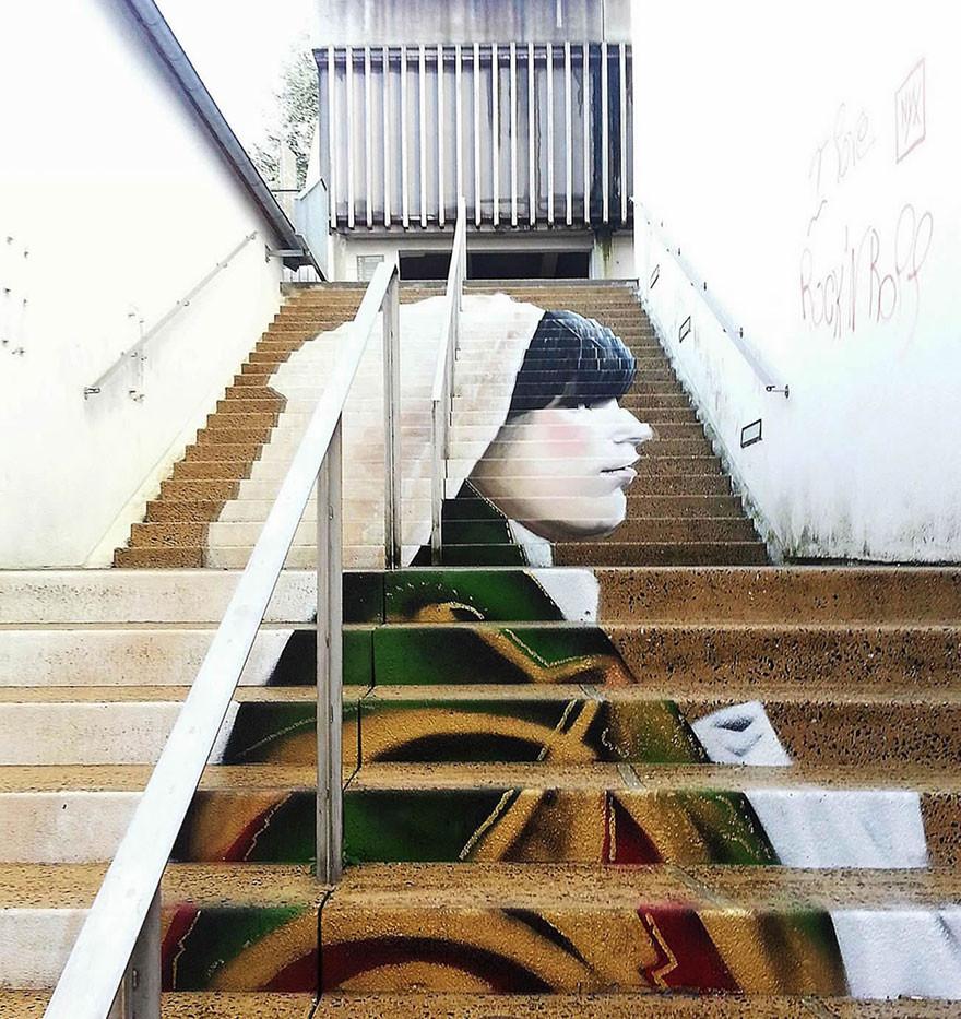 As 17 intervenções urbanas mais belas do mundo realizadas em escadarias