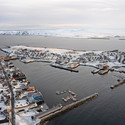 Vardø Harbour from above. Image Courtesy of Biotope