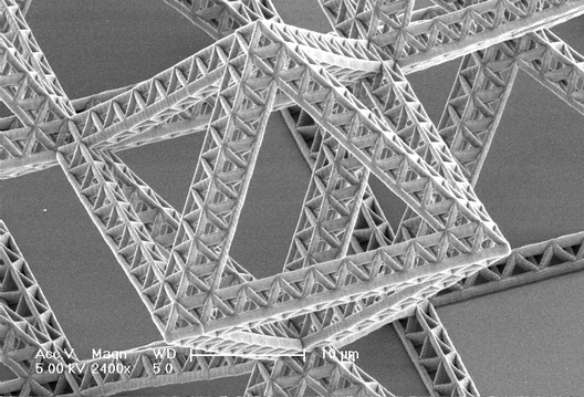 Fractal nanoentramado por Nigel and Lucas. Image Courtesy of California Institute of Technology  |  Division of Engineering and Applied Science