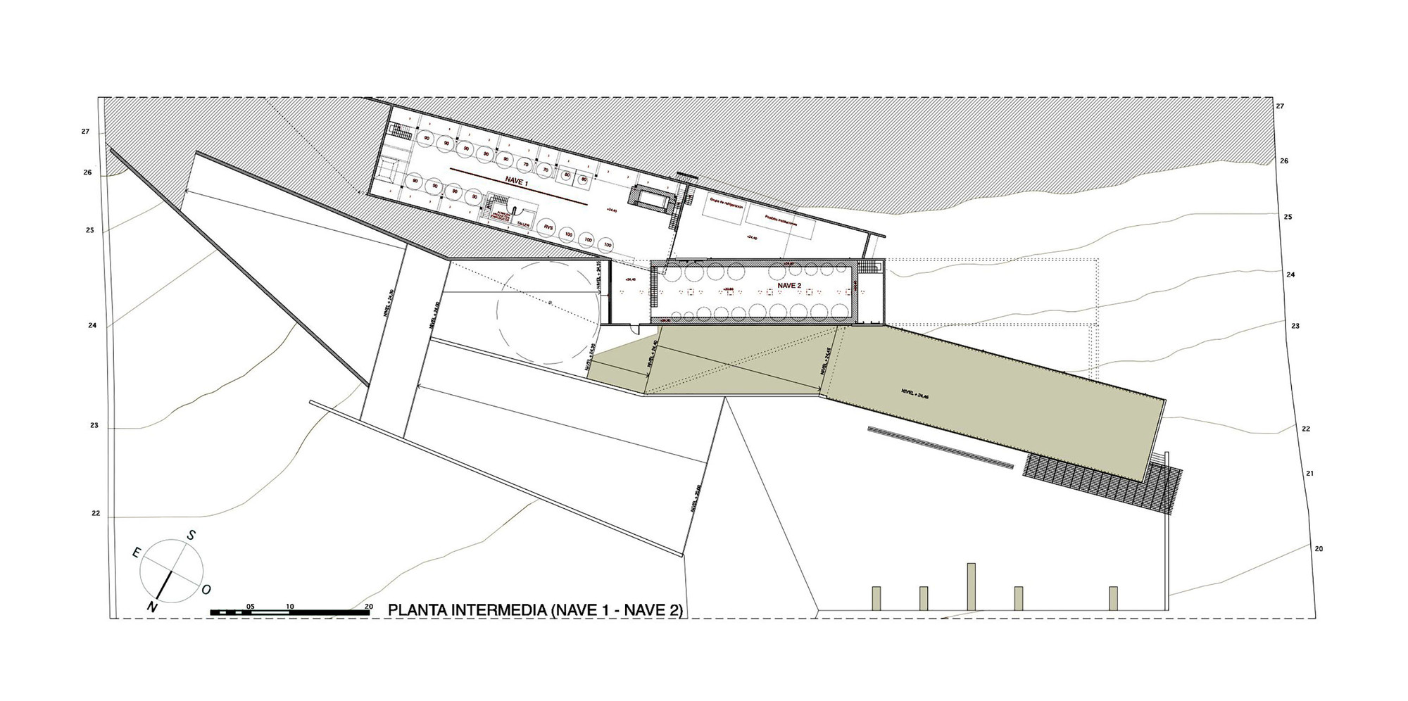 Galer a de bodega terra remota untaller 15 for Winery floor plans by architects