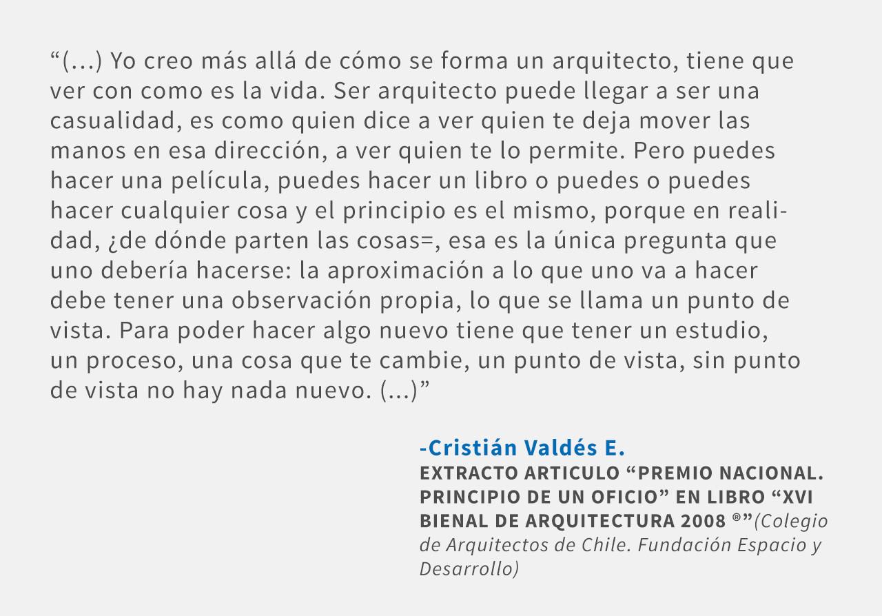 Frases: Cristián Valdés