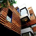 Gairole House: Volume and brick courses. Image Courtesy of Anagram Architects