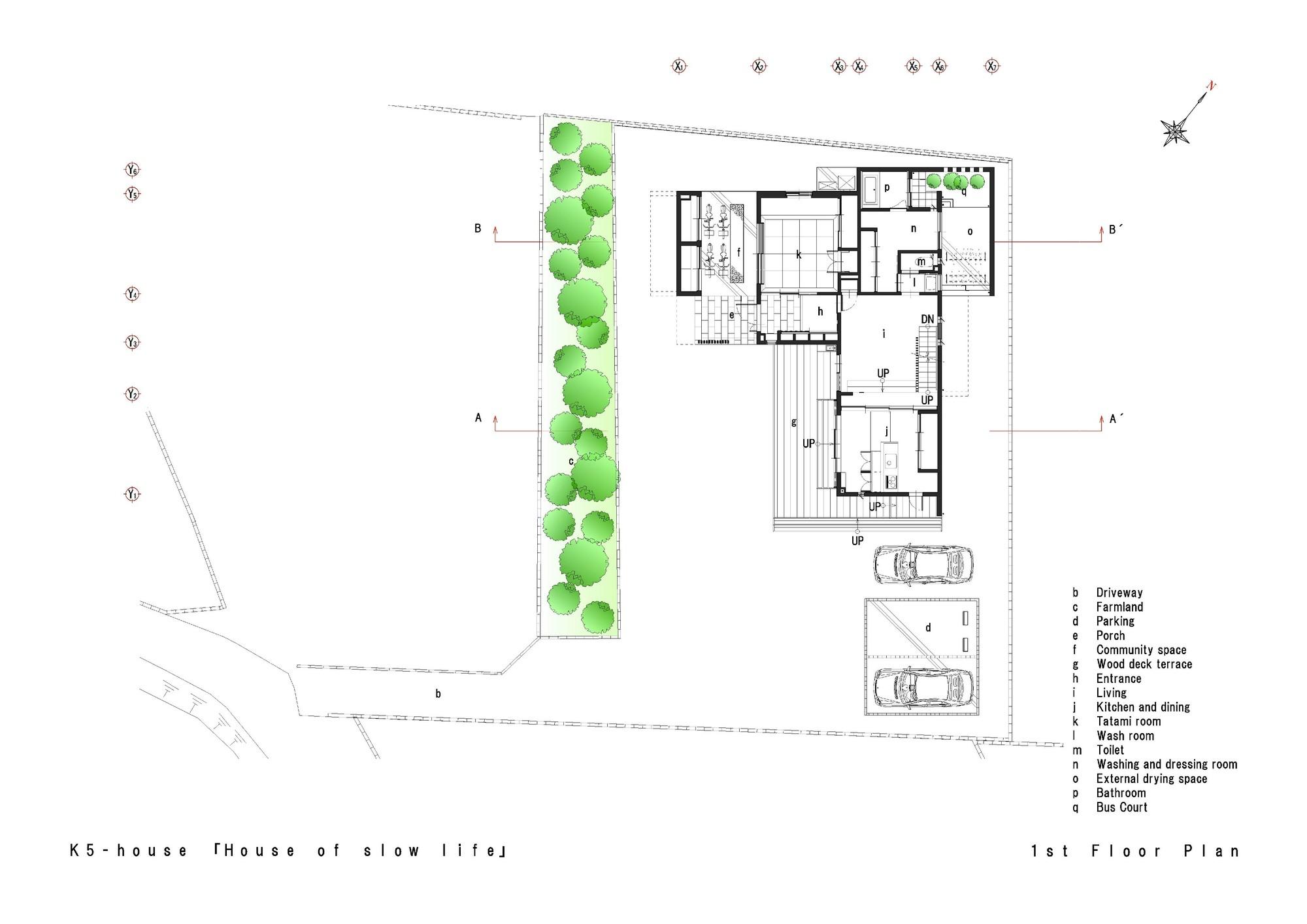K5 House,First Floor Plan