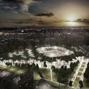 Night View. Image © stadiumconcept with IAA architecten