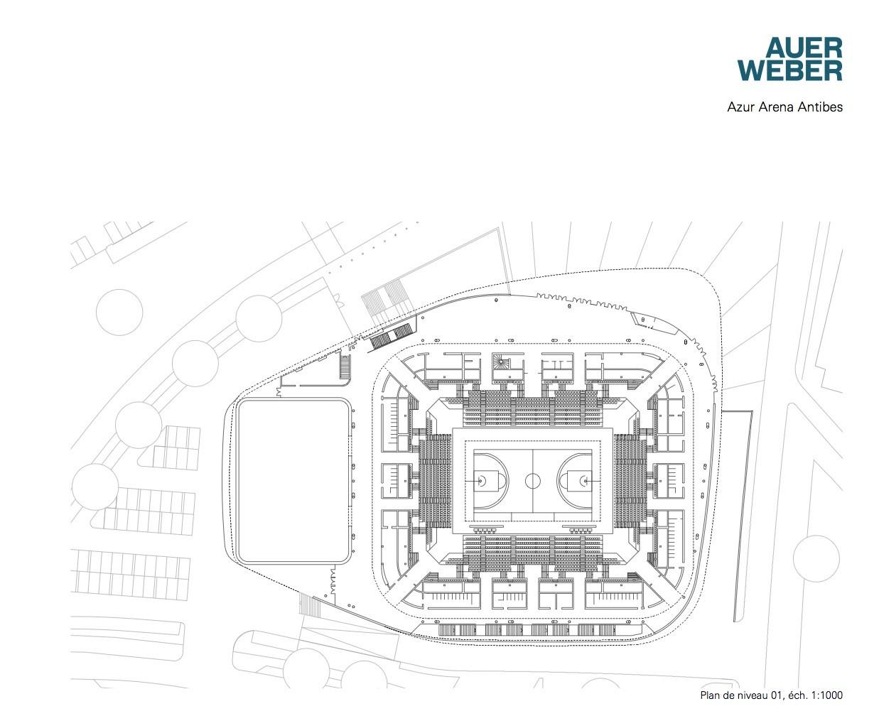 gallery of azur arena auer weber 10 azur arena plan level 1