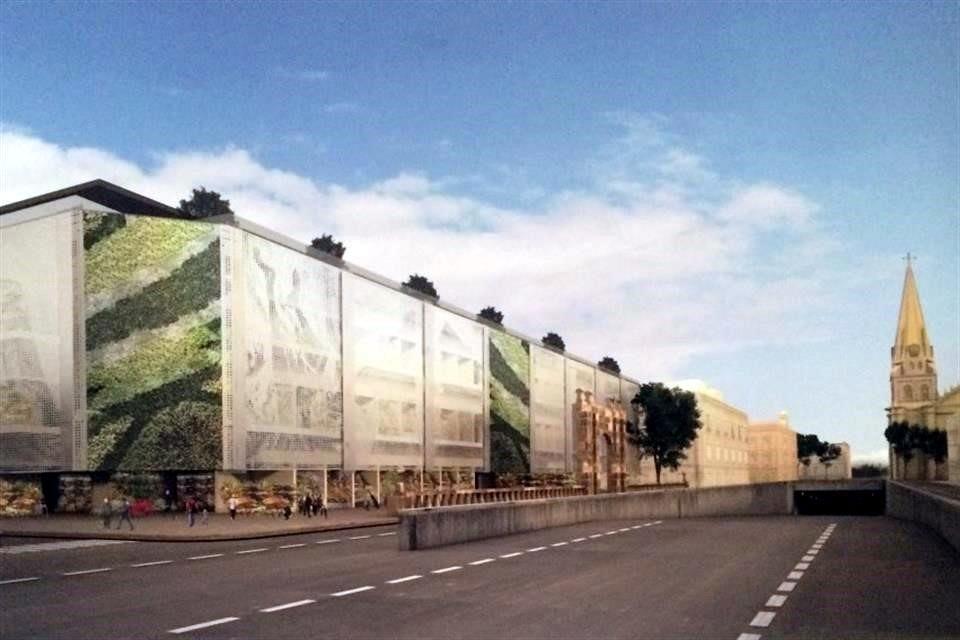 Las 30 propuestas del concurso para la reconstrucción del Mercado Corona , Proyecto de Name Arquitectos, propuesta finalista / Vía Mural