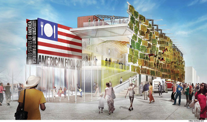 Milan Expo 2015: Barn-Inspired Design Unveiled for US Pavilion, Courtesy of Biber Architects
