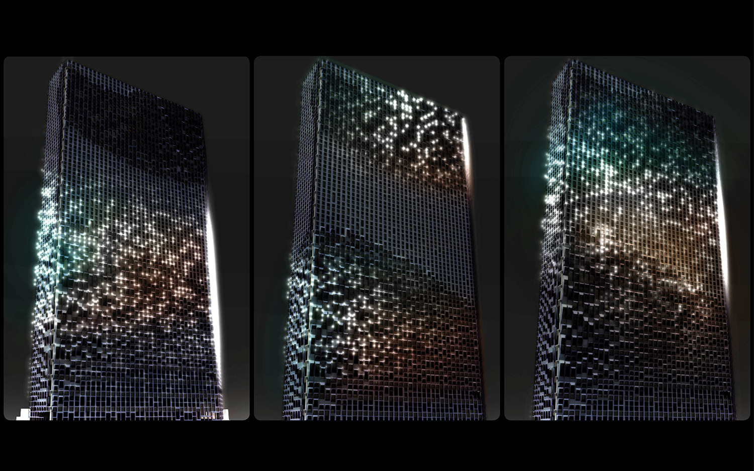 UNStudio Rev&s Hanwha Offices with Shimmering LED FacadeFacade Lighting . Image Courtesy of UNstudio & Gallery of UNStudio Revamps Hanwha Offices with Shimmering LED ...