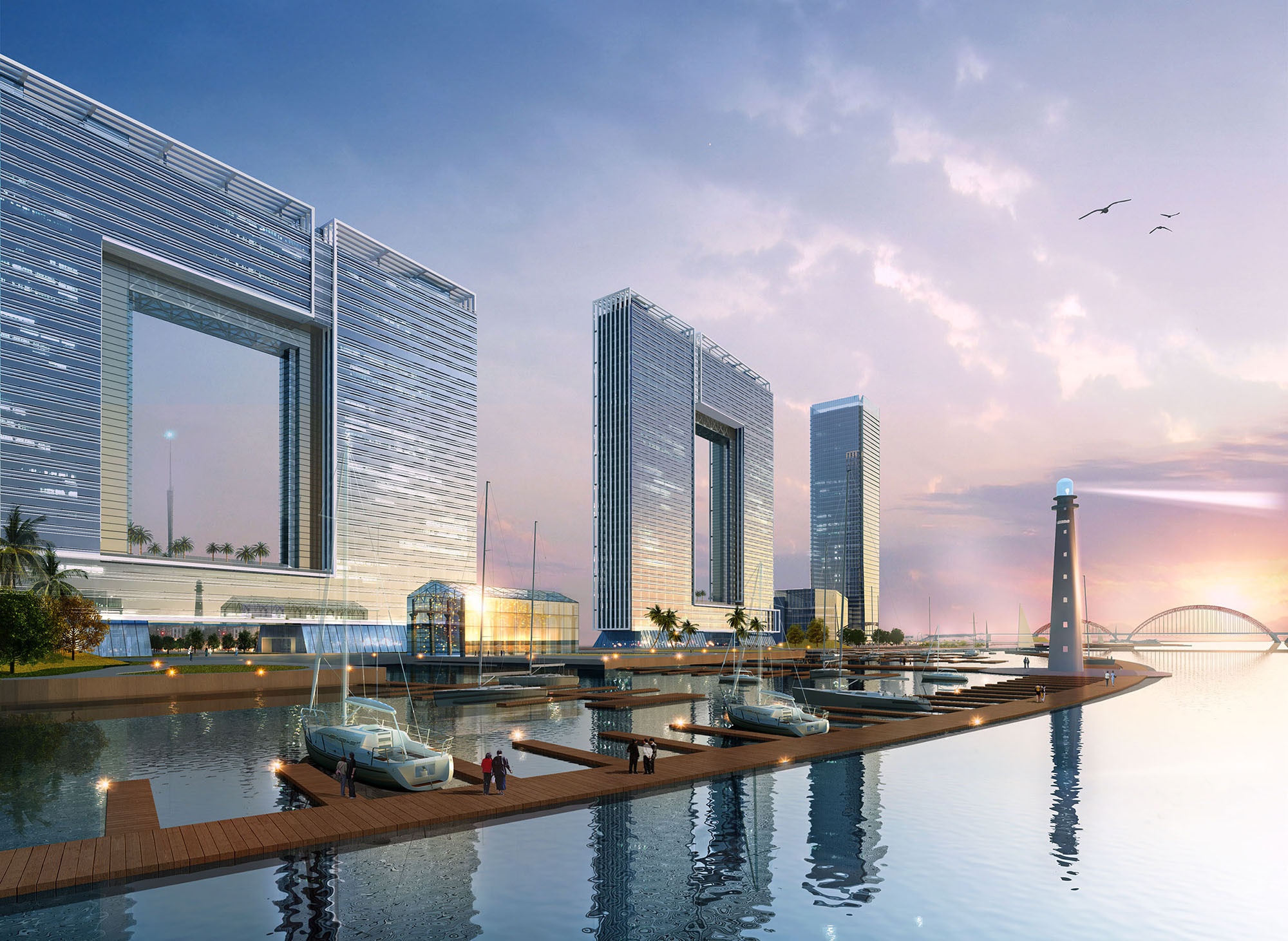 Atkins Designs Striking Office Complex in Guangzhou, Courtesy of Atkins