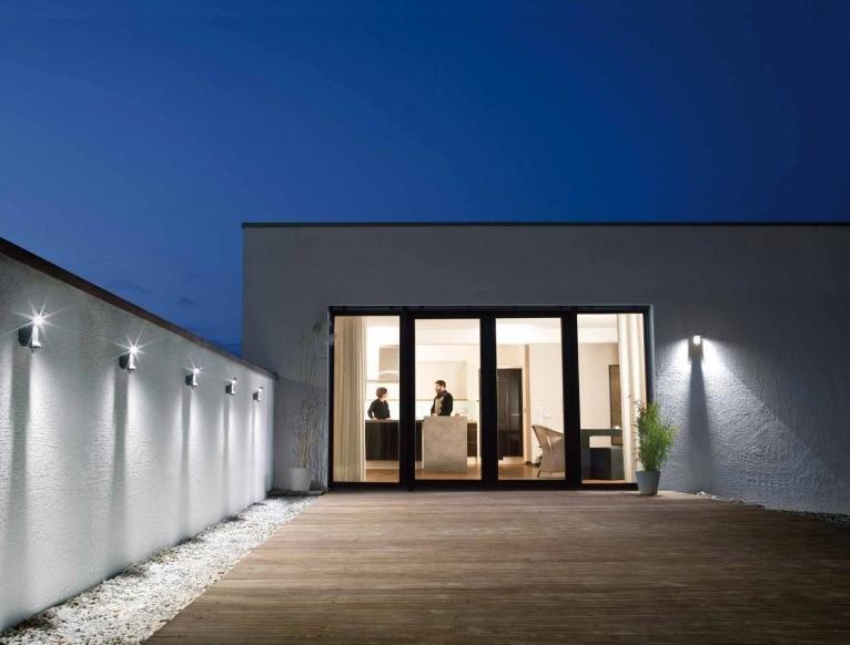 Materiales luminarias para proyectos residenciales - Lamparas de exteriores de pared ...