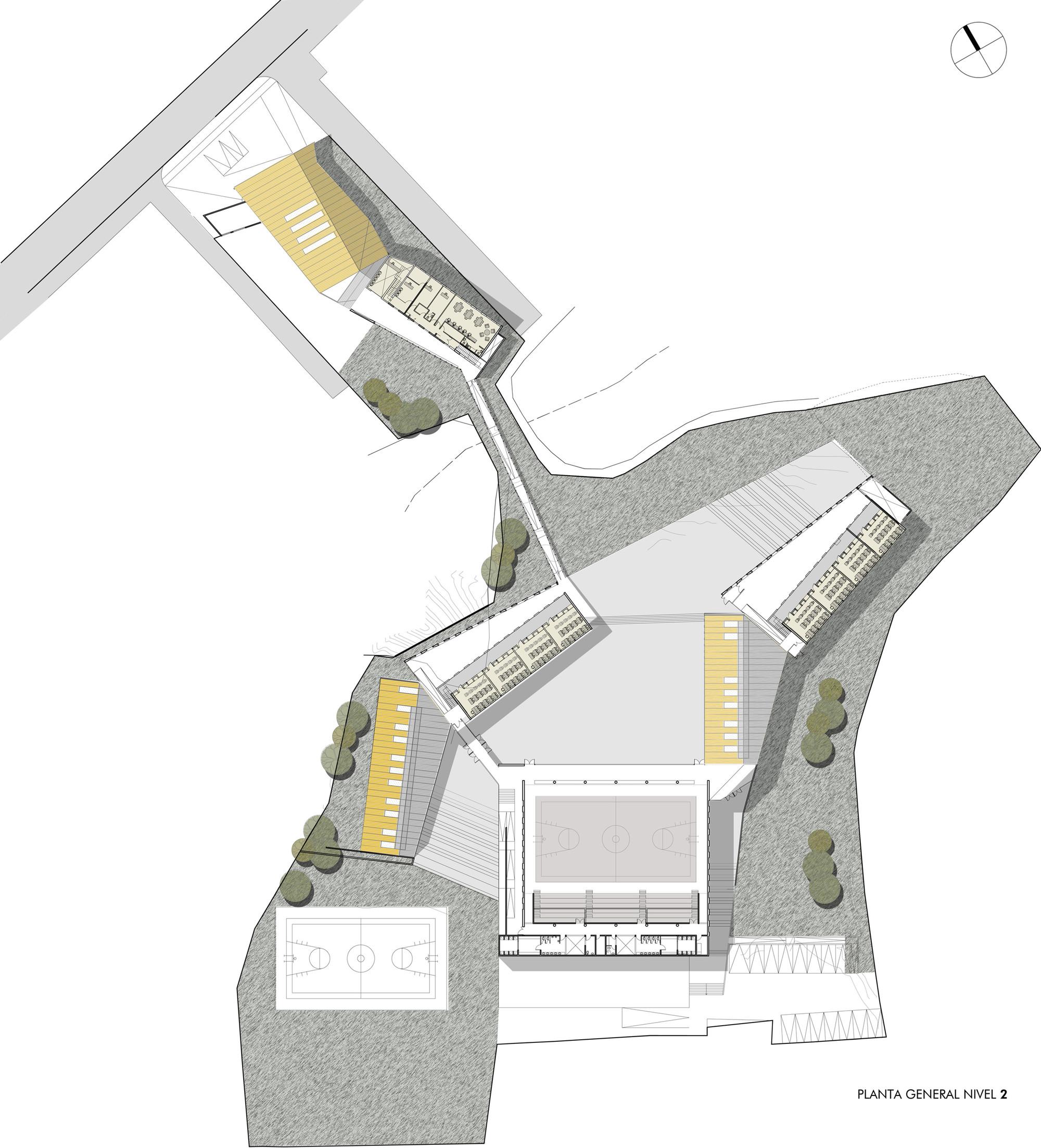 Galer a de edificio escuela manuel anabal n saez gubbins for Plantas de colegios arquitectura