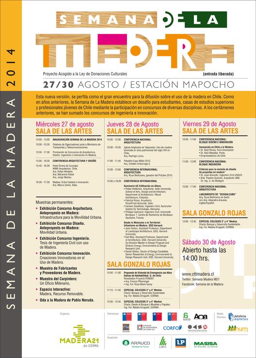 Se viene la Semana de la Madera 2014: ¡conoce a los conferencistas!