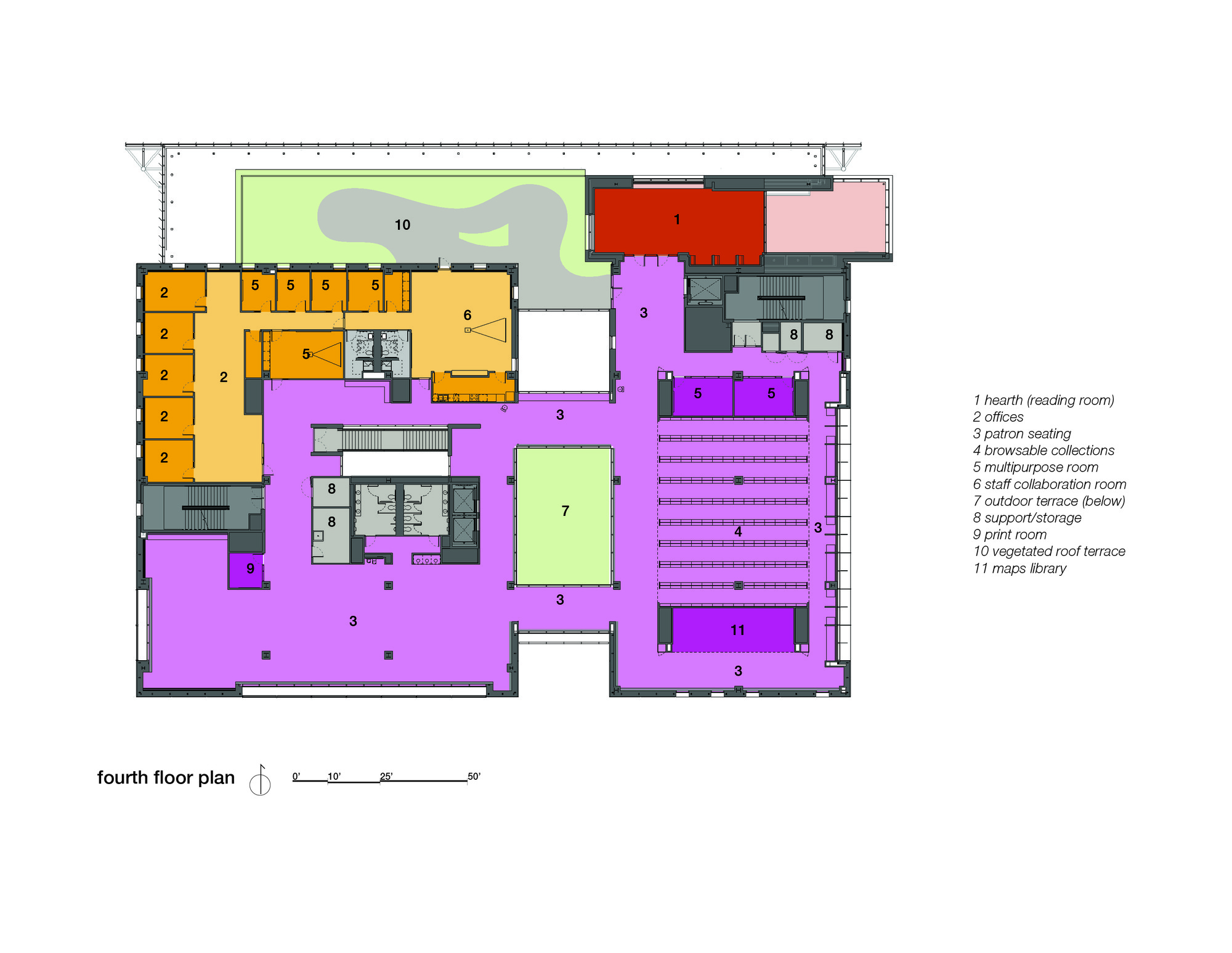 Grand Valley Pew Campus Map.Gvsu Pew Library Stantec Archdaily