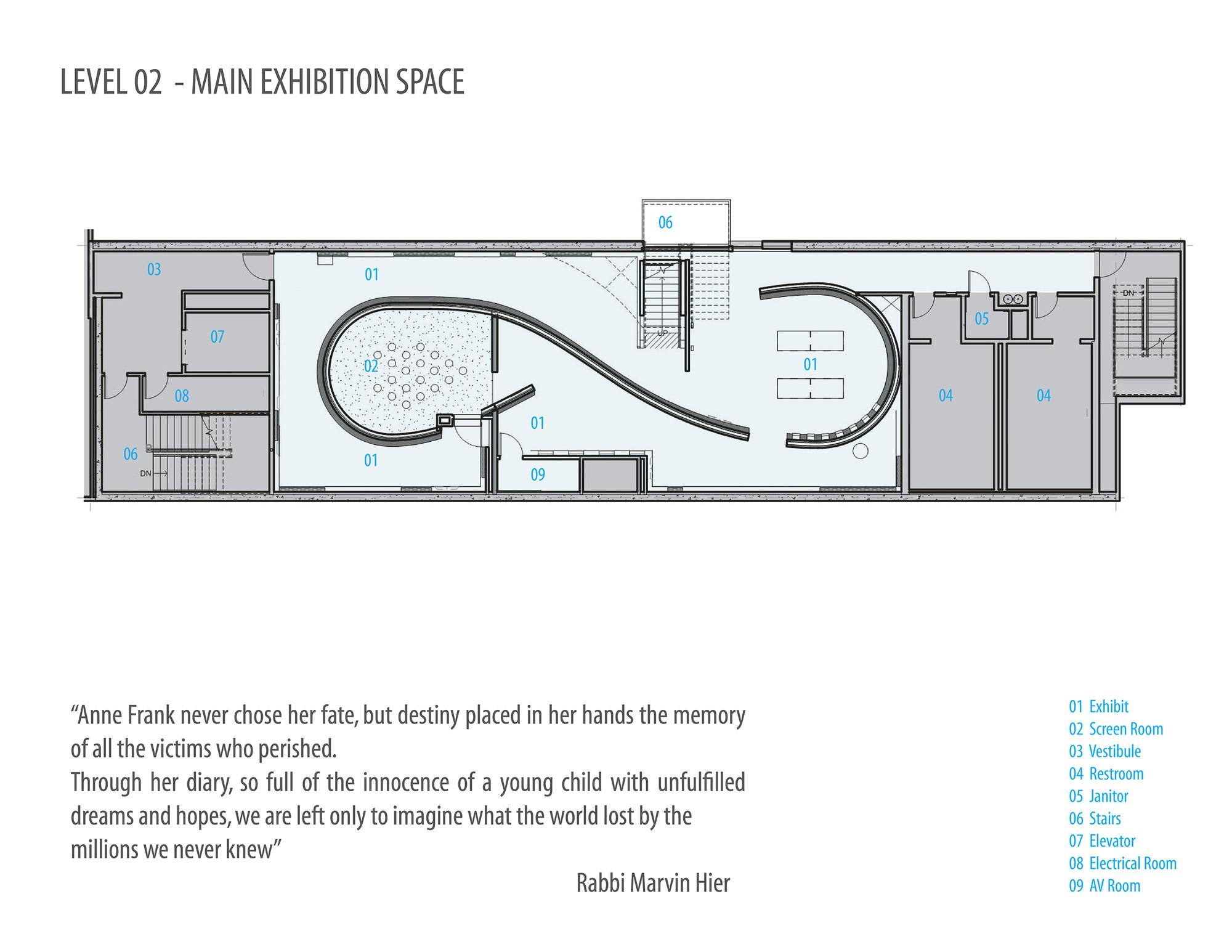 D Exhibition Floor Plan : Gallery of museum tolerance anne frank exhibit