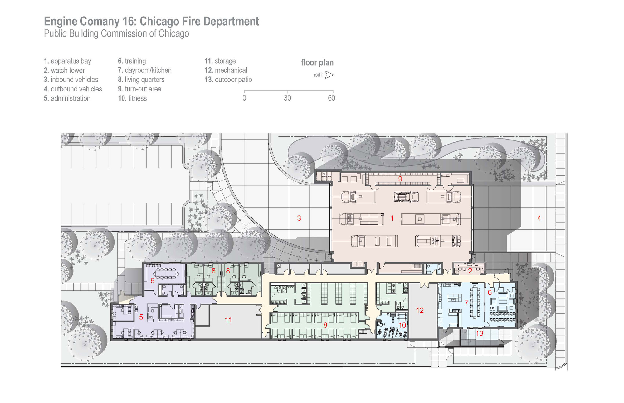 Engine Company 16 FireHouse / DLR Group | ArchDaily on ambulance design plan, firehouse floor plans dimensions, firehouse interior design,